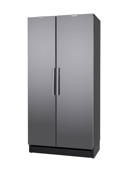 Festivo 100 CFM Fridgefreezer Black/Stainless steel