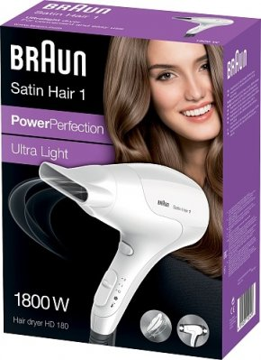 BRAUN HD180 POWER PERFECTION SATIN HAIR-1 HIUSTENKUIVAIN 1800W