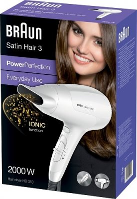 BRAUN HD380 POWER PERFECTION SATIN HIUSTENKUIVAIN 2000W